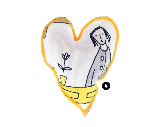 Heart Gift for Men, Heart Gift for Friend, Heart Gift for Sister, Handmade Sewn Valentines Design for Her, Him, Husband