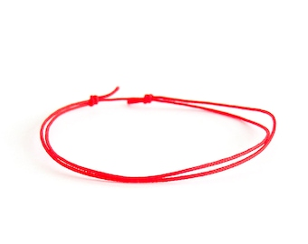 Red Bracelet For Protection, Red Bracelet String, Red Bracelet Lucky For Men And Women Adjustable Buddhist Feng Shui Cuff Good Luck. 0.8 mm