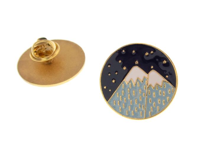 Mountain  Enamel Pin Jewelry, Travel Badge Brooch Lapel Pin, Rock Climber Gift Idea Camping Enamel Pin
