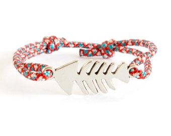 Navy Bracelet, Navy Jewelry, Navy Knot Bracelet Cuff, OOAK in Navy bracelets. 2 mm