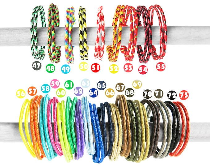 Adjustable Bracelet, Adjustable Rope Bracelet, Adjustable Friendship Bracelet, Knot Nautical Rope Cuff Mens Tennis Bracelet Paracord. 2 mm