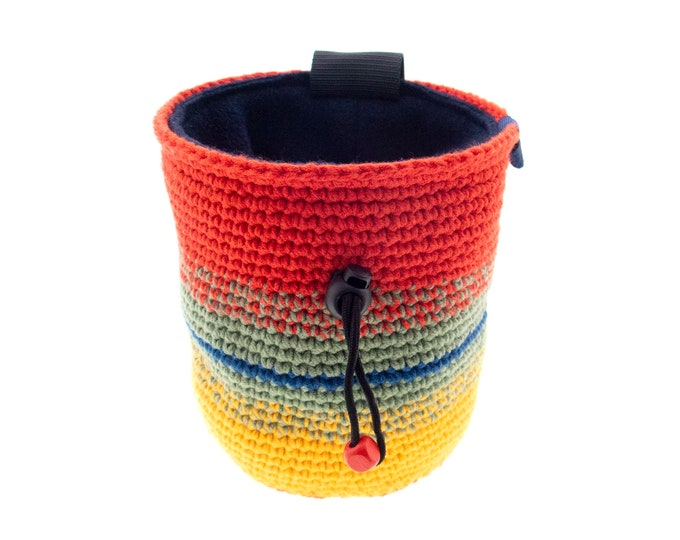 Chalk Bag for Climbing Indoor Climbing, Trad Climb or Bouldering. Rock Climbing Gift for Woman, Lady, Size L