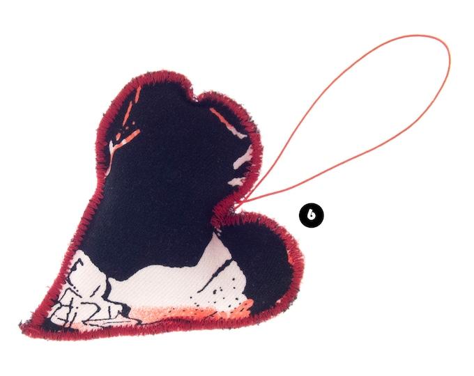 Cute Valentines Gift for Boyfriend Abroad. Cute Gift for Boyfriend Valentines Day. Black Red Stuffed Heart