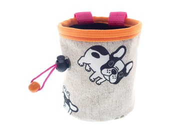 Mini Chalk Bag Attach to Harness, Chalk Purse for Bouldering Rock Climbing Gym for Girl XS. S Size