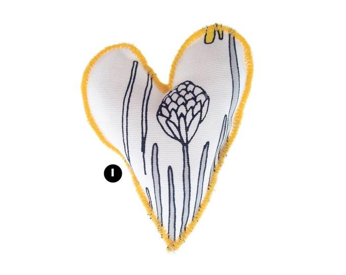 Heart Ornament Valentines Day, Heart Ornament Valentines Gifts. Handmade Stuffed Heart Favor Gift Ideas. Yellow Wedding Heart