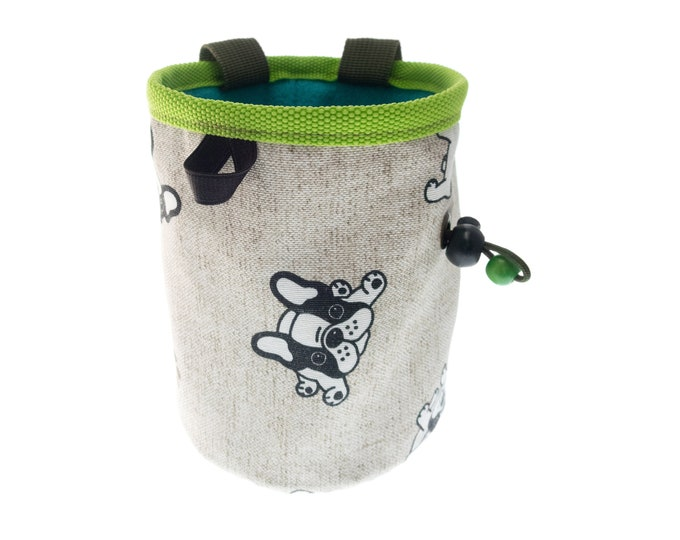 Magnesium Bag Climbing, Klettern Chalk Bag Dogs Design, Valentine and Xmas Gift for Rock Climbing Woman and Men. L Size