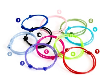 Rubber Bracelet Men, Rubber Bracelets For Adults, Rubber Bracelet Adjustable Design Bands. Youth Size Too. Love, Valentines Black Cords 2 mm