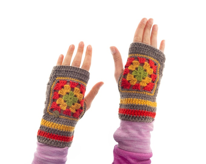 Gloves Fingerless for Ladies, Best Winter Funky Wrist Warmer, Half Gloves Cashmere, Woolen Lambswool Alpaca Mittens