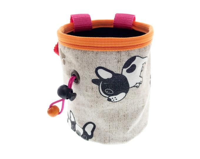 Animal Chalk Bag for Kids, Rock Climbing Pouch, Boulder Bucket, Cute Powder Bag. S Size