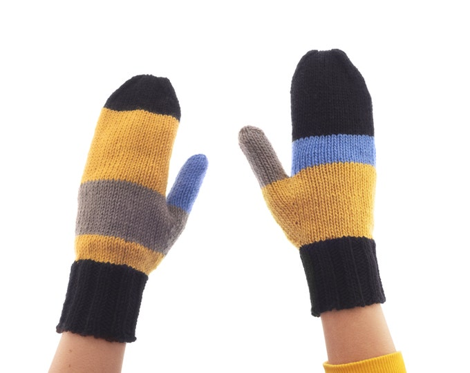 Winter Mittens for Adults, Best Warm Asymmetrical Gloves, Funny Cute Winter Hand Gloves Hiking, Cashmere