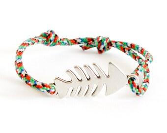 Summer Rope Bracelet, Summer Wrap Bracelet, Navy Bracelet for Summertime. 2 mm