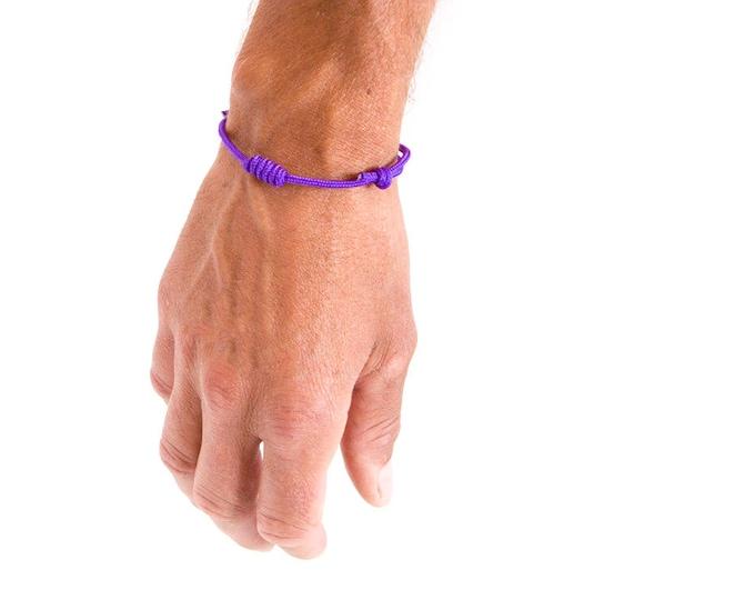Man Bracelet, Unisex Bracelet, Custom Mens Gift, Braided Bracelet. 3 mm