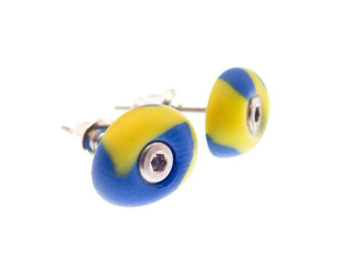 Rock Climbing Earrings Jewelry, Mens Bouldering Holds Grips Studs, Climber Gift