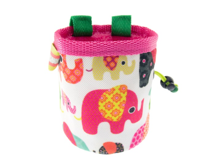 Rock Climbing Chalk Bag Gifts for Climbers, Kid Sized Small Chalk Bucket Bag. S Size