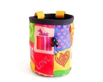 Gift For Climber, Rock Climbing Bag, Gymnastics Chalk Bag, Christmas Gift Climber, L Size