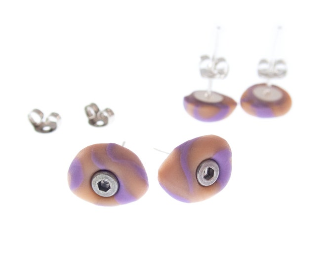 Bouldering Holds Earrings, Climbing Wall Earrings, Bouldering Earrings Jewelry, Womens / Mens Studs, Climbing Gym Equipment Gift