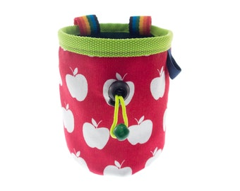 Bouldering Kids Chalk Bag, Rock Climbing Accessories for Youth Girl, Boy, Cute Chalk Bag for Beginner, Junior 3, 5, 7 Year Olds. Size S