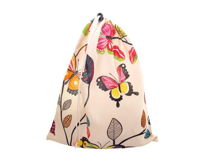 Yoga Bag Women, Yoga Bag Big, Yoga Equipment Bag with Drawstring, Gym Shoe Travel Tote, Large, Hippie Eco Gift H43/W35cm