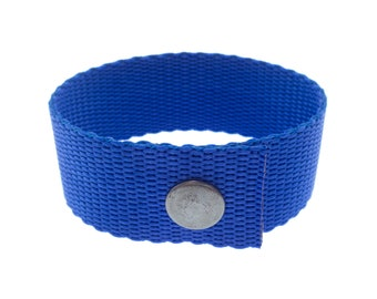 Men's Jewellery Wristband from Large to Small, Men's or Ladies Gift Blue Bracelet for Valentines. 25 mm