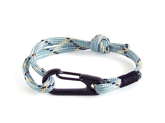 economico per lo sconto d18ed 894ed Bracciale corda arrampicata, regali, arrampicata braccialetto, Bracciale  uomo di arrampicata su roccia. 4 mm