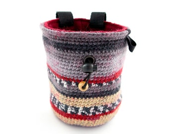 Bouldering Gift Chalk Bag, Rock Climbing Themed Presents Ideas, Best Indoor Gifts for Climbers, L Size