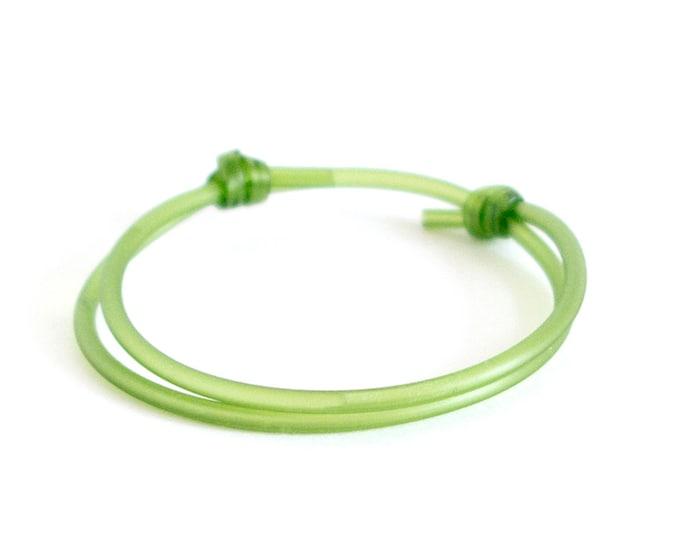 Luck Bracelet. Good Luck Bracelet For Men, Good Luck Bracelets For Women. Green Red Black Rubber String Love Money. 2 mm