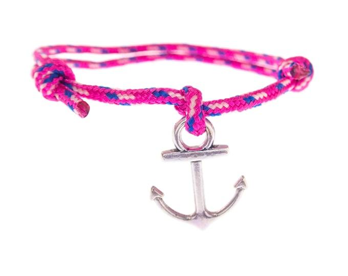 Anchor Bracelet Men Women, Nautical Male Rope Charm Wristband, Friendship Wrap Hope Bracelet. 2 mm