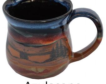 14 Oz. Mug in Mountain Scenes Design