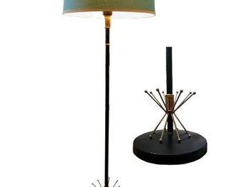 Genuine 1950's Mid Century Atomic Sputnik Floor Lamp