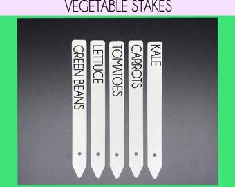 Vegetable Garden Stakes, Veggie Stake Set, Custom Veggies