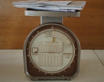Postage scale Pelouze Monarch Y-5 5 lb. Mail Scale Vintage