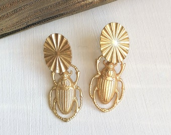 Cleopatra rings, earrings, pendants, gold, suns, beetles, trend, pleated, ethnic, insects, Egyptian