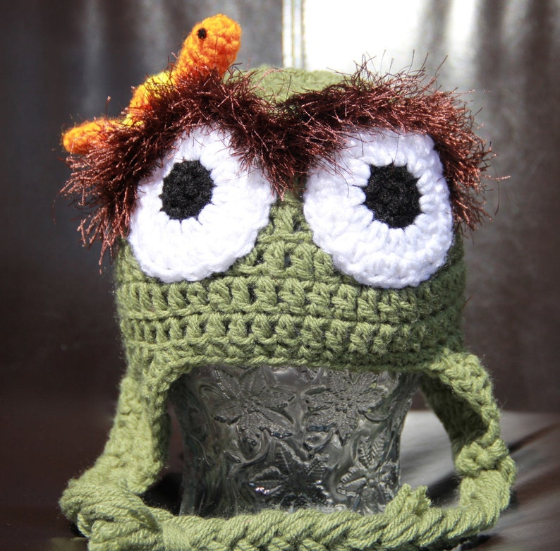 b8d206dd320 Oscar the Grouch Inspired Baby Hat Sesame Street Photo Prop