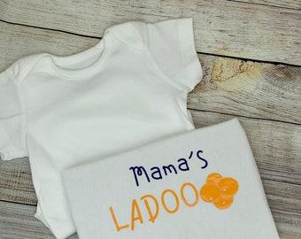 Mamma's ladoo Baby bodysuit, baby vest, baby grow, baby clothing, baby gift, baby, onesie. Keepsake