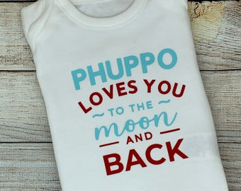 New aunty baby outfit, phuppu loves you baby bodysuit, baby vest, baby grow, baby clothing, baby gift, baby, onesie,
