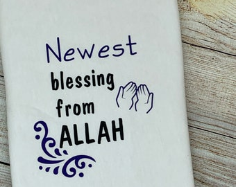 Blessings from Allah, baby bodysuit, baby vest, baby grow, baby clothing, baby gift, baby, onesie,