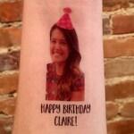 custom personalized birthday party PHOTO face temporary tattoos // HAPPY BIRTHDAY