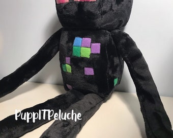 Wither Plush Inspired By Minecraft Unofficial Etsy