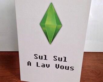 5x7 The Sims Simlish Love Card