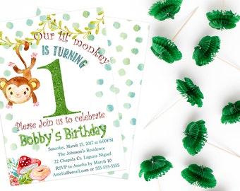 Printable Little Monkey Birthday Party Boy
