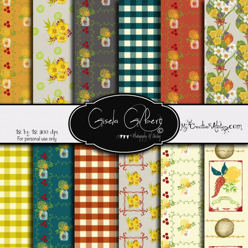 Country Fall Digital Paper image 0