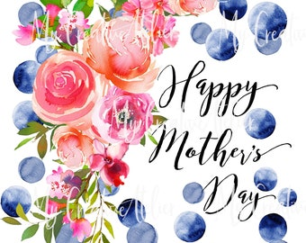 Mother's day Vibrant design instant download ready to print sublimation