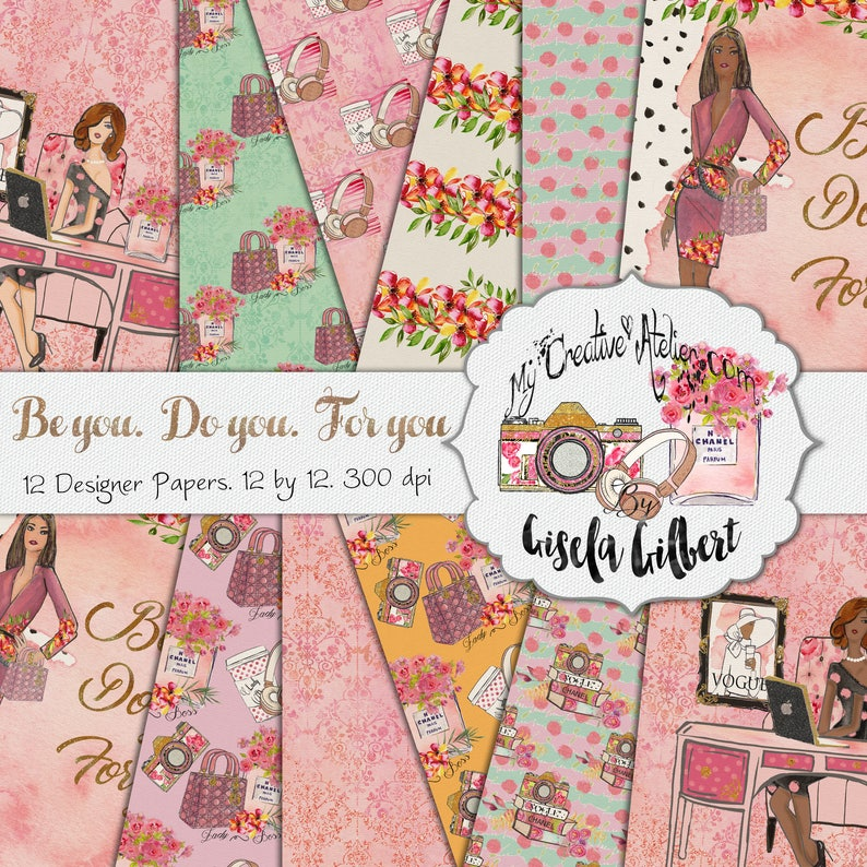 Lady Boss Digital paper comercial use image 0
