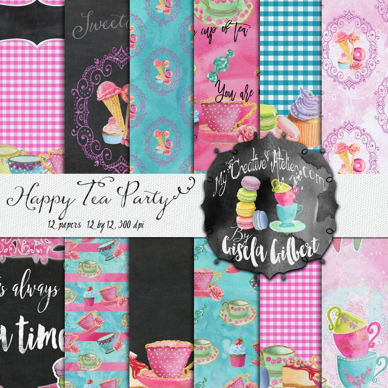 Digital paper pack. Printable Pattern for Planner Stickers and image 0