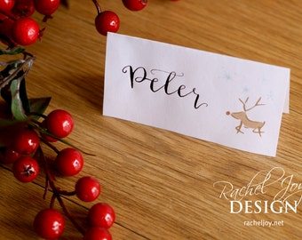 Cheap place cards etsy christmas dinner place cards print yourself works with avery 5302 tent cards digital download solutioingenieria Images