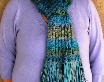 """Colors of the Sea Scarf---""""Ariel"""""""