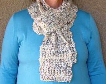 """Creamy Dreamy Ivory and Metallic Scarf---""""Isaac M."""""""