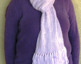 """Lovely Lavender Scarf with Fringe---""""Willow"""""""