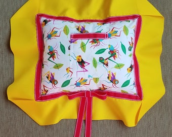 """White, Yellow, Red, and Grasshoppers! Tooth Fairy Pillow---""""Hopper"""" and """"A Bug's Life"""""""