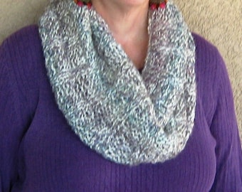 """Soft Blue Ombre Infinity Cowl---""""Anya"""""""